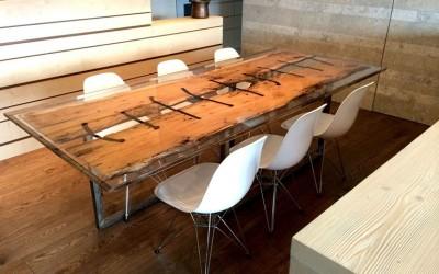 BRICCOLA E RESINA | Tavolo da pranzo